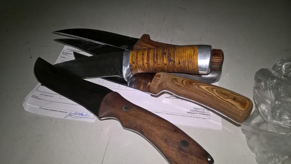 Заточка охотничьих охотничьего ножей ножа